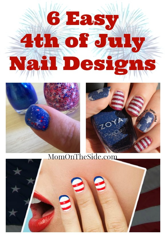 Fourth of July Easy Nail Designs