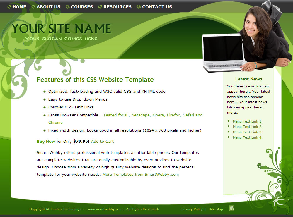 9 Web Design Website Templates Dreamweaver Images