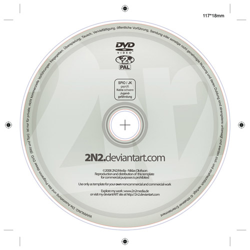 10 CD DVD Label PSD Templates Images