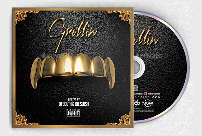16 Cd Cover Template Psd Images - Cd Cover Design Template, Free