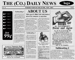 Free photoshop newspaper template boatremyeaton free photoshop newspaper template maxwellsz