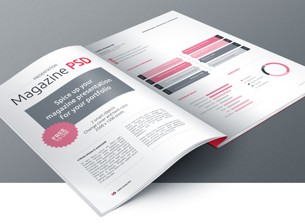 14 Free Magazine PSD Template Images