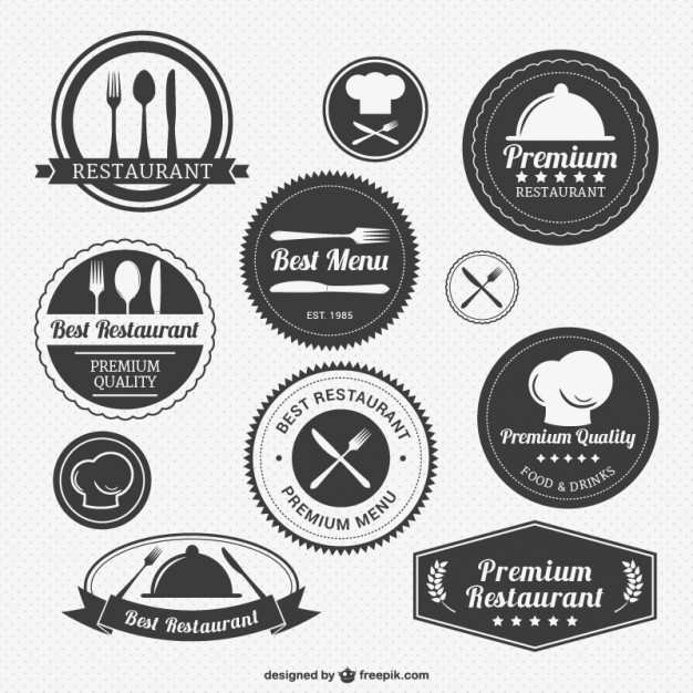 11 Restaurant Icon Vector Pack Images