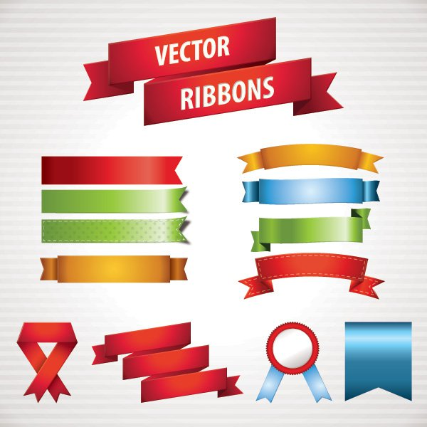 13 FREE Ribbon Vector Images