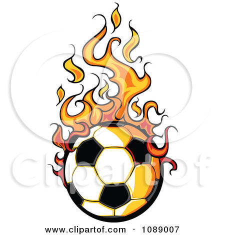 10 Fiery Soccer Ball Vector Images