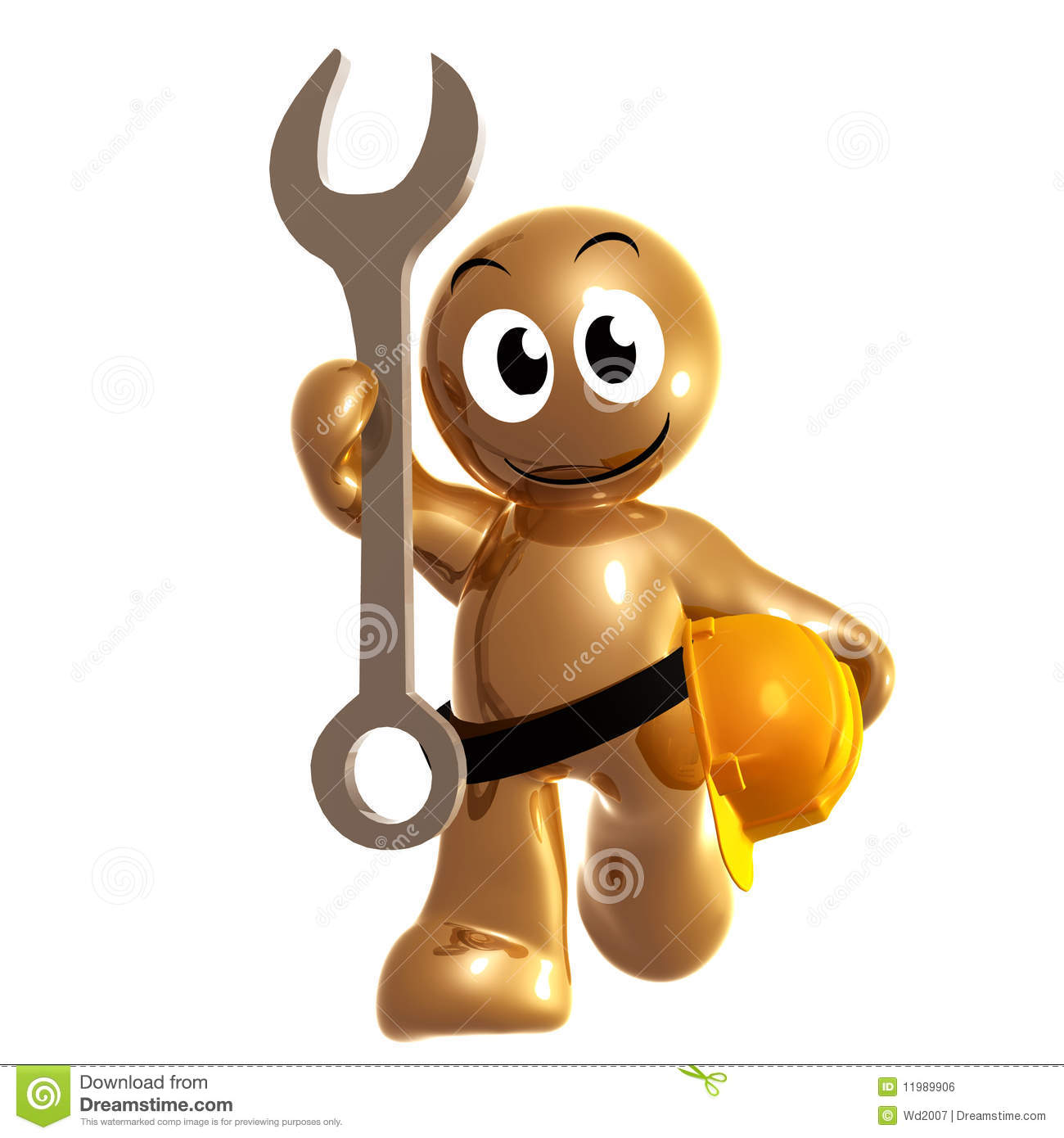 Funny Maintenance Man Clip Art