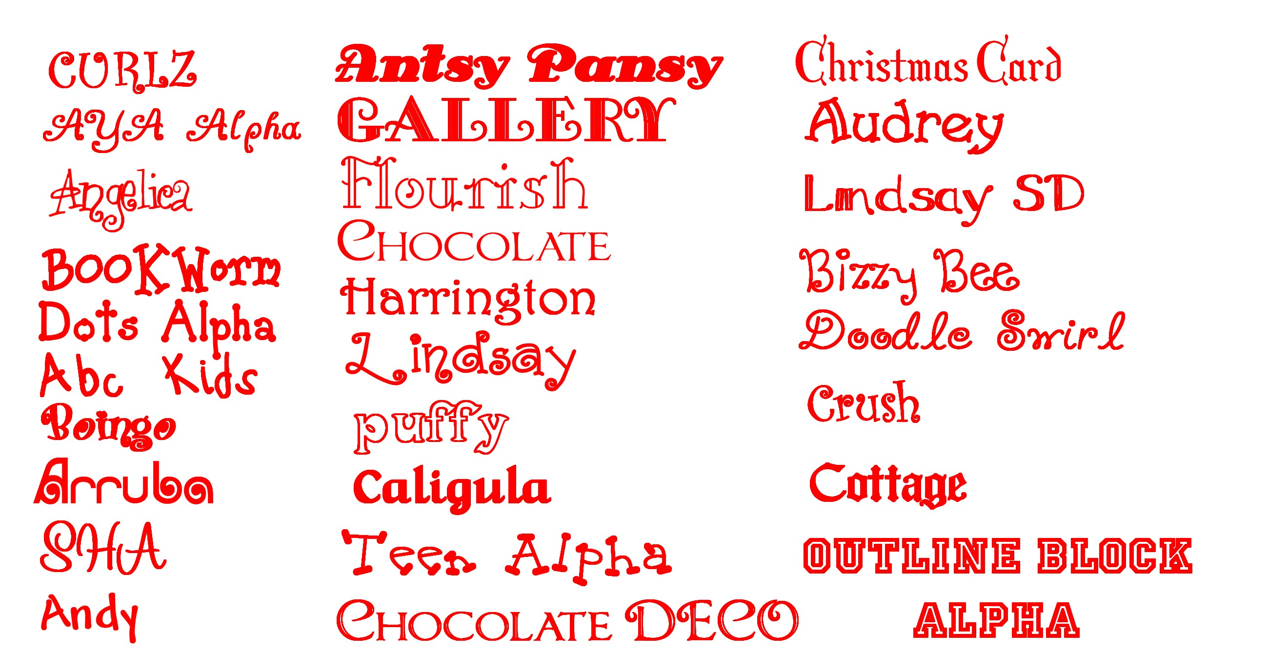 Girly Fonts Alphabet Letters