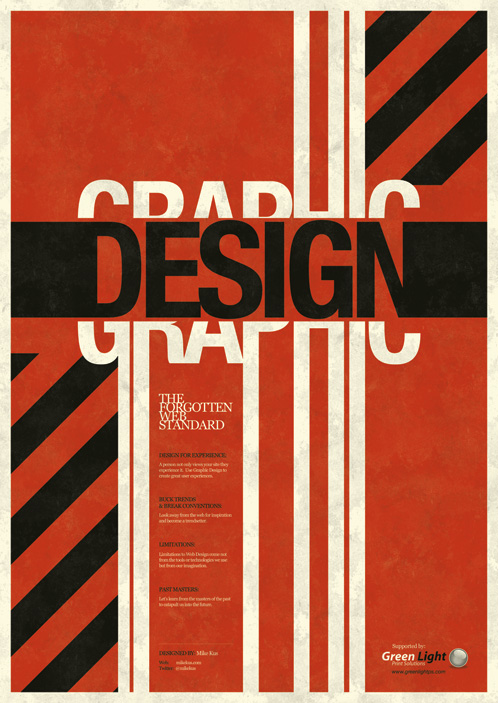 Graphic Design Poster Words