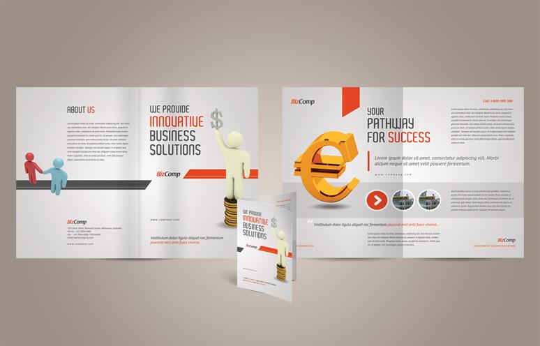 13 A4 Brochure PSD Design Images