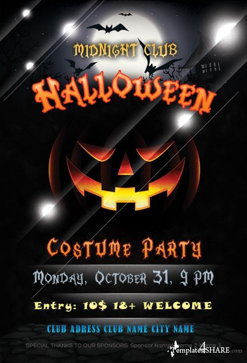 20 halloween flyer psd images halloween party flyer psd template halloween flyer templates for Halloween flyers free