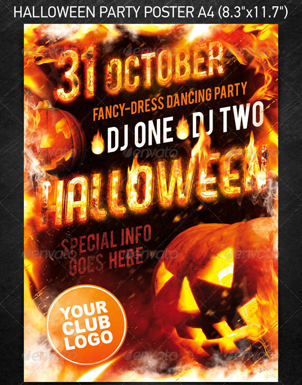 20 Halloween Flyer Psd Images Halloween Party Flyer Psd Template