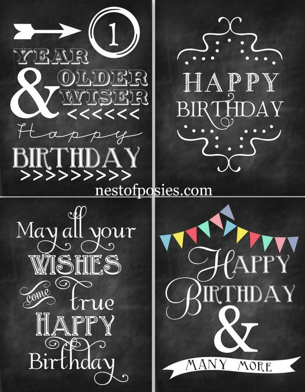 15 Chalkboard Font Happy Birthday Images