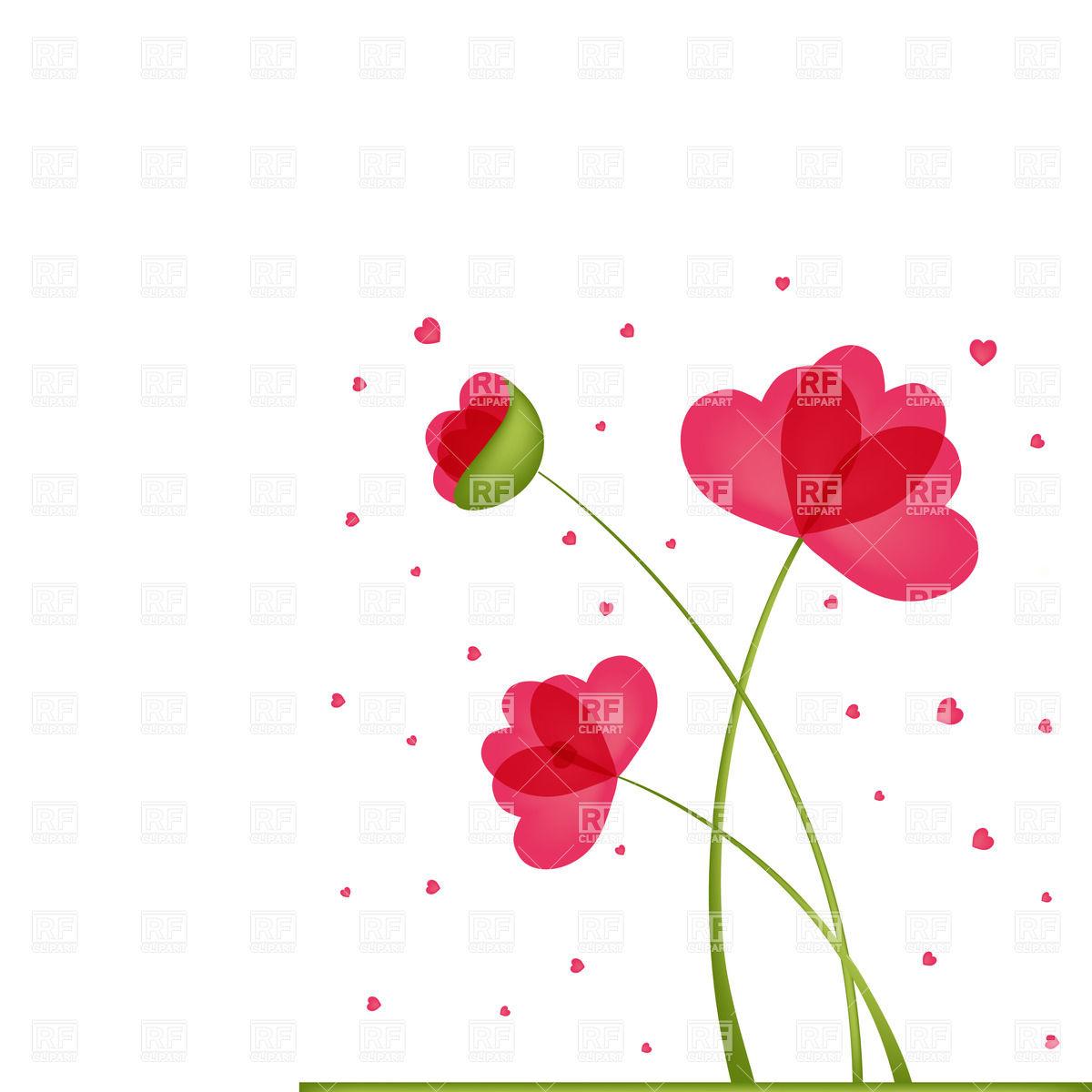 Heart Shaped Flowers Clip Art