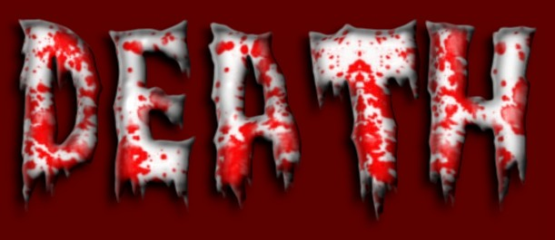 12 scary bloody word font images