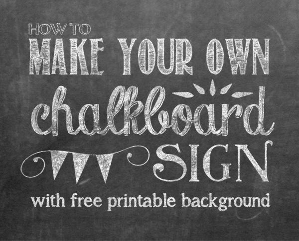 Free chalkboard poster templates diy