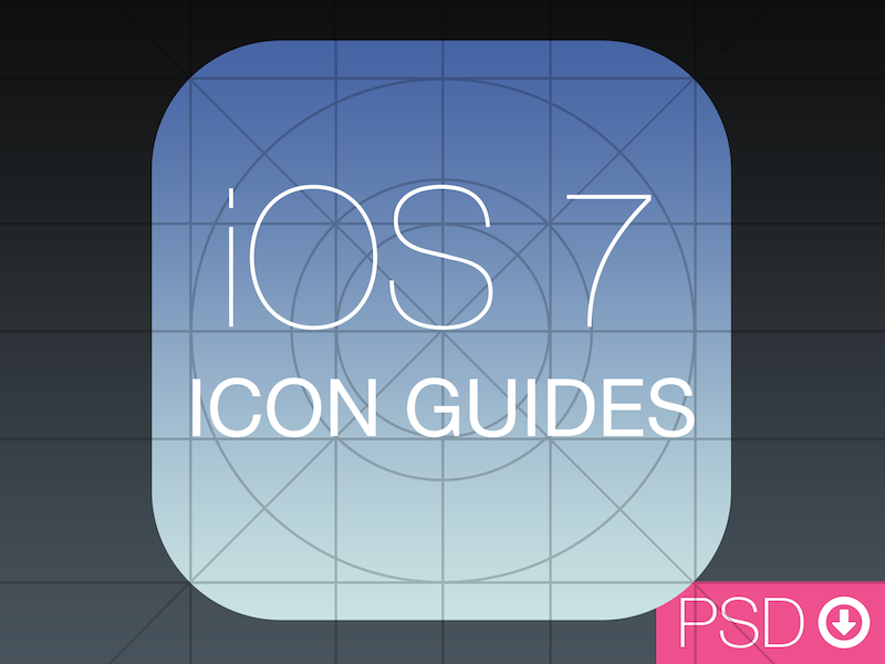 iOS 7 App Icon Template PSD