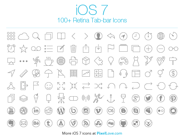 iOS Tab Bar Icons Free