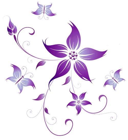 Iris Flower Tattoo Designs