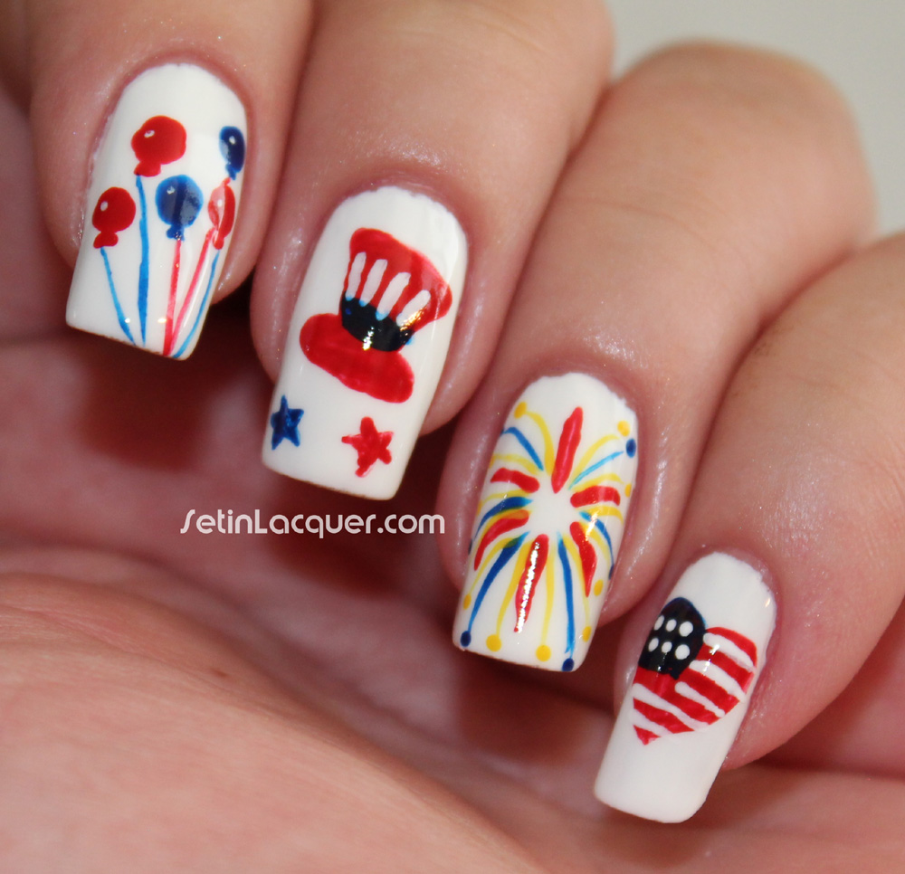July Fourth Nail Art