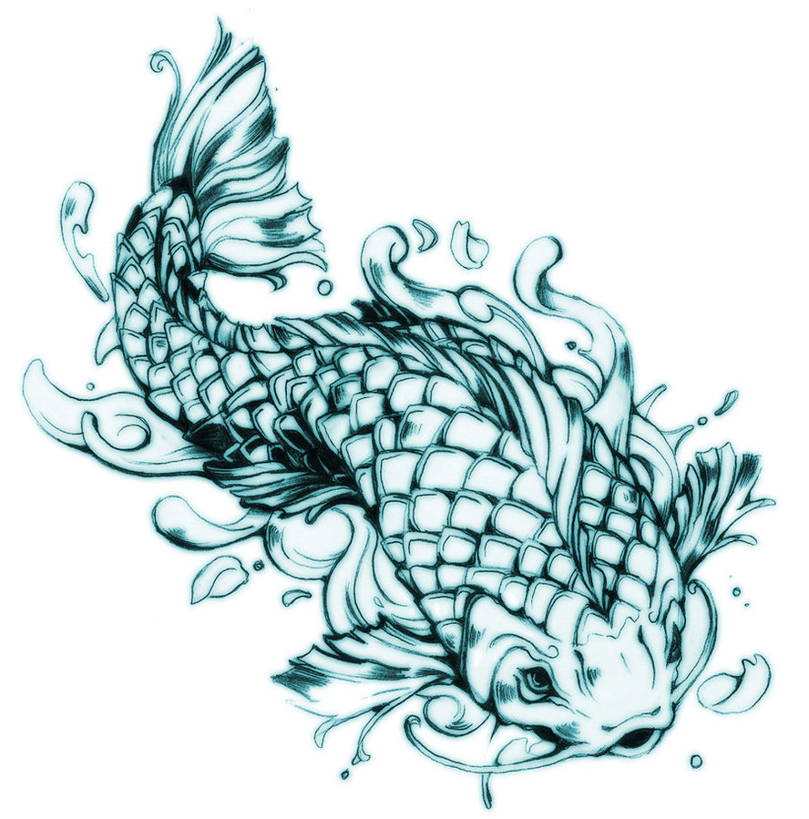 Koi Fish Tattoo Designs Drawings