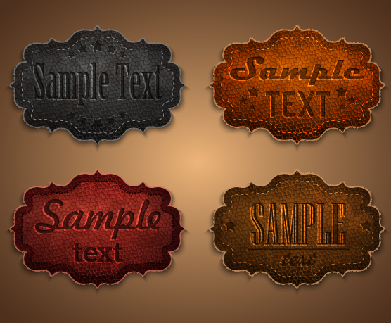 Leather Vector Labels Free