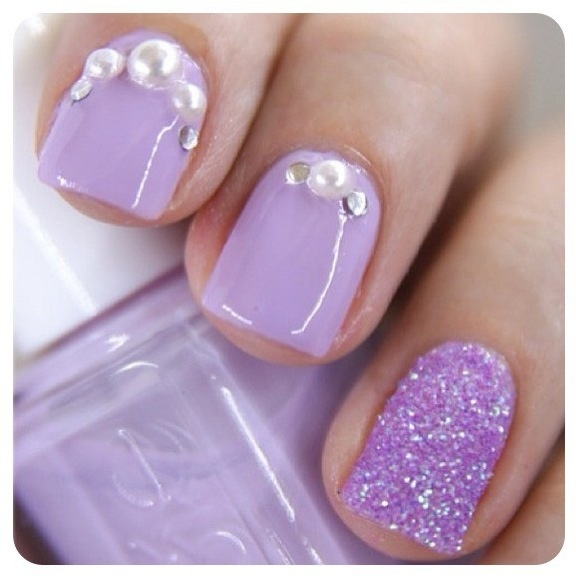 7 Light Purple Nail Designs Images