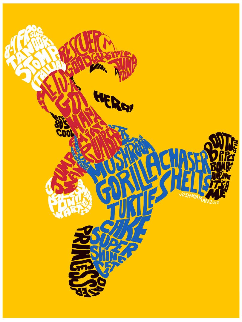 Mario Typography