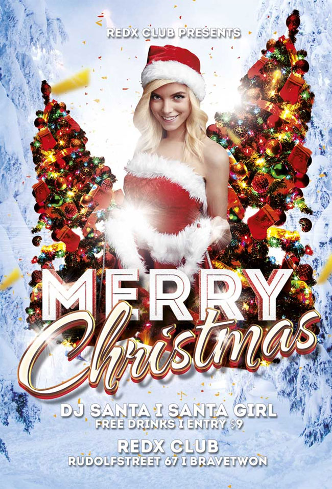 Merry Christmas Flyer Template Free