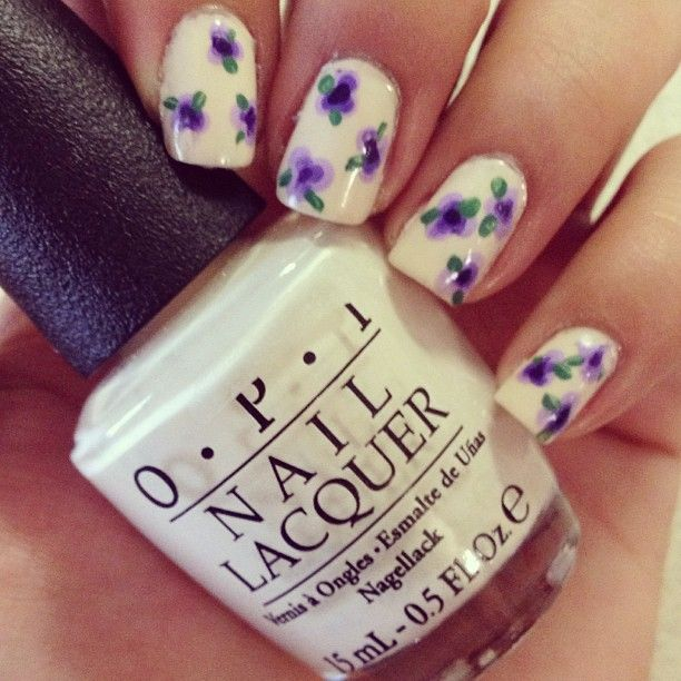 Nail Art Designs Purple And White Hireability