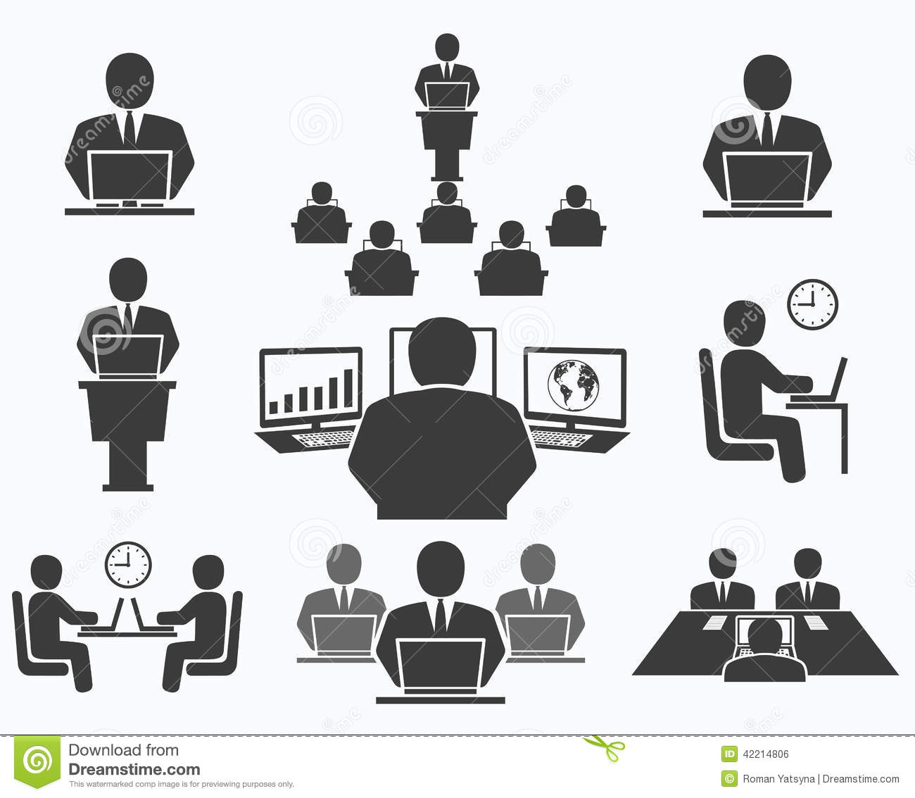 Office Business People Icons