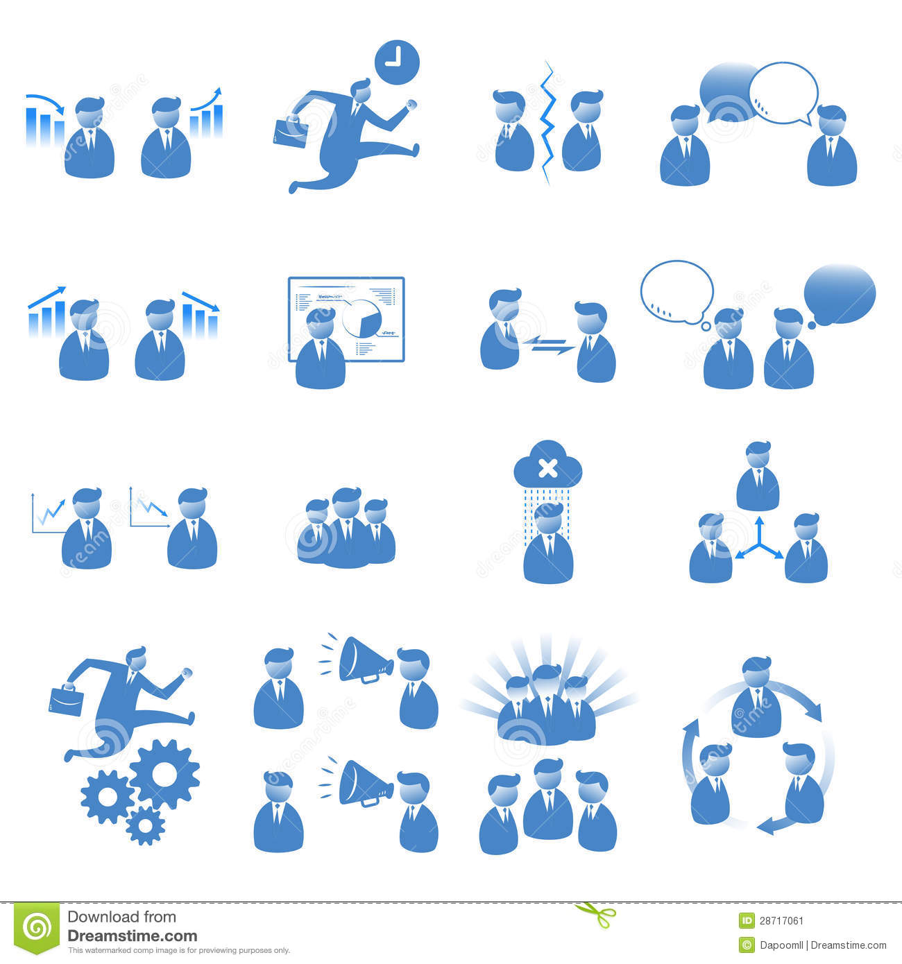 Office People Icon Set