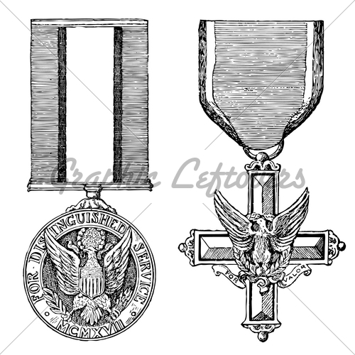 20 Vintage Army Medal Vector Images