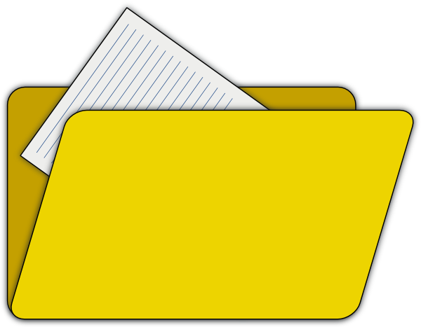 Open File Folder Clip Art