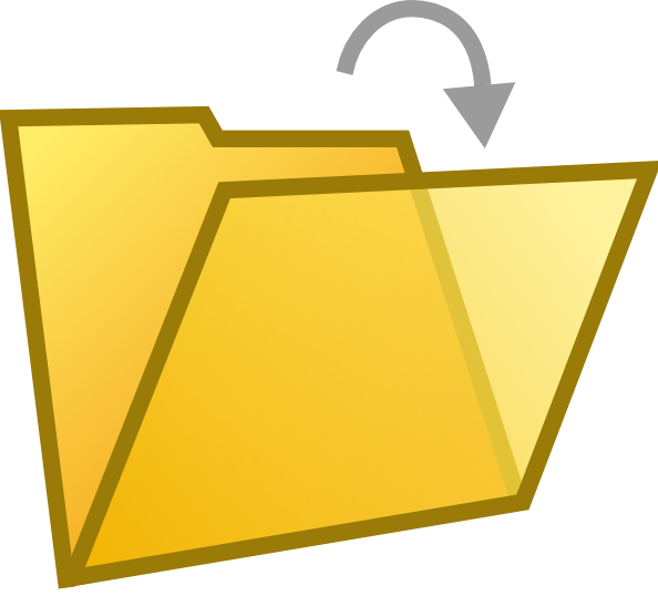 Open Folder Clip Art