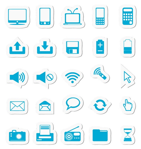 9 Document Monochrome Icon Images