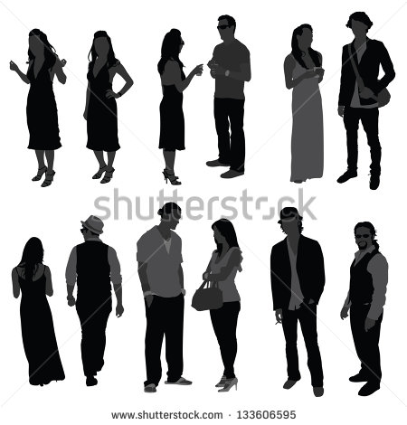 7 Vector Silhouette Person Speech Images
