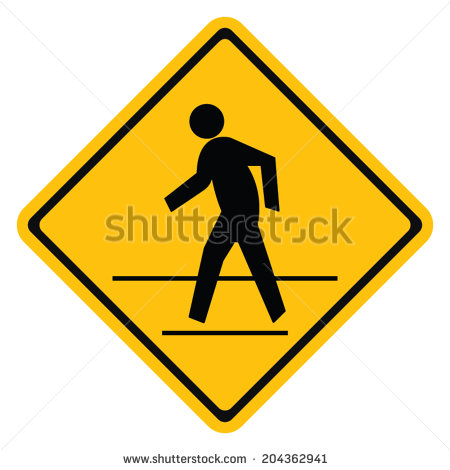 Pedestrian Traffic Warning Signs