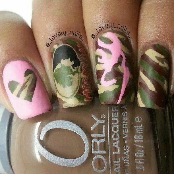 13 Cute Camo Nail Designs Images Pink Camo Nail Designs Cute