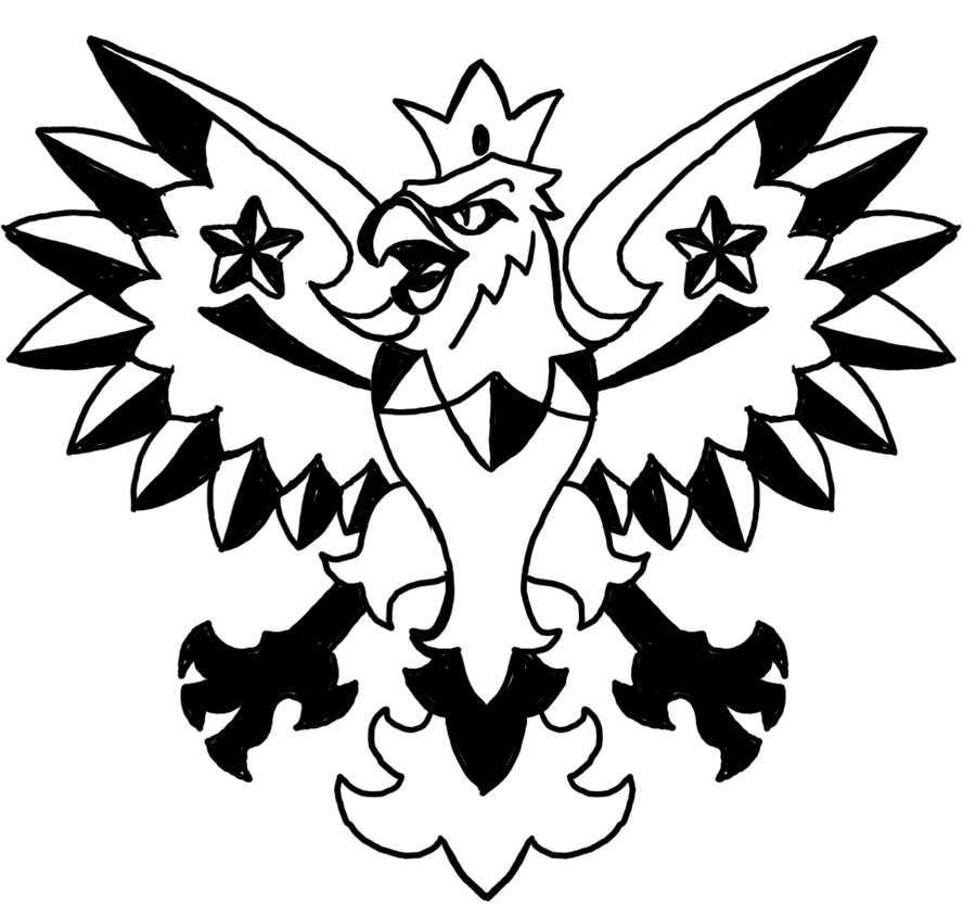 Polish Eagle Tattoo Stencil