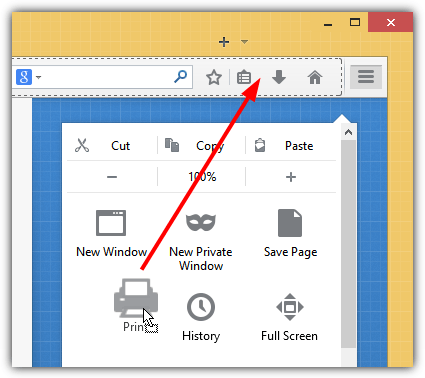 Print Icon On Toolbar