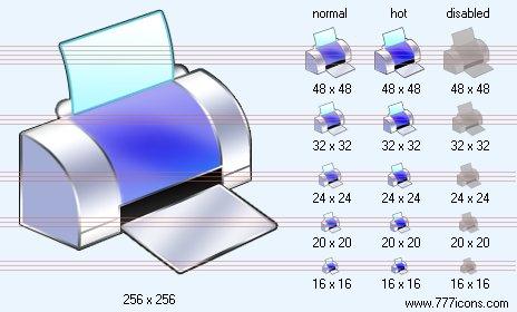 Printer Icon On Toolbar