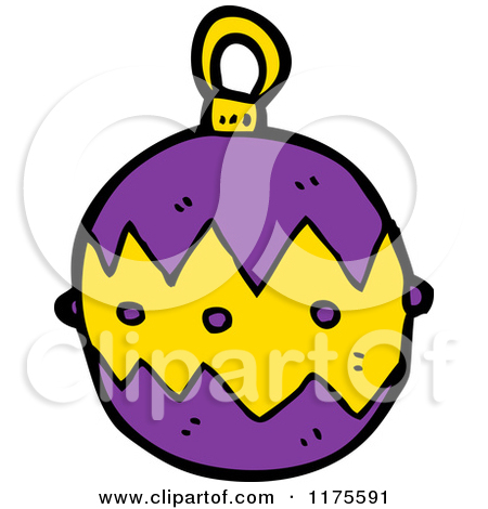 11 Purple Christmas Ornaments Vector Images