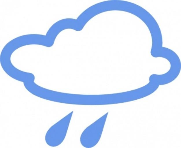 Rain Weather Symbol Clip Art