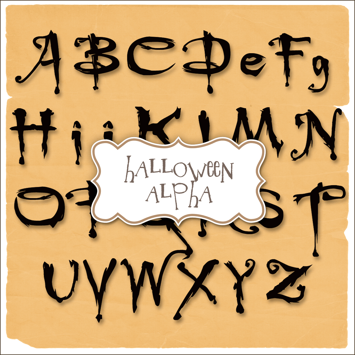 Scary Halloween Alphabet Letters