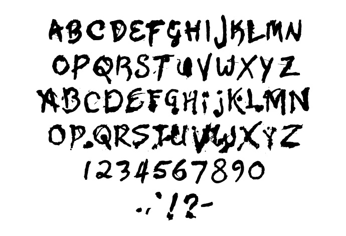 9 Spooky Writing Font Images Scary Halloween Fonts Free