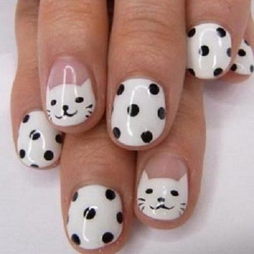 Short Nail Art Designs Cats