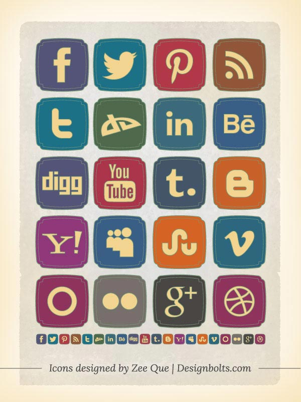 17 Best Free Social Media Icons Images