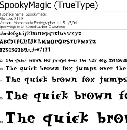 Spooky Letter Fonts Microsoft Word