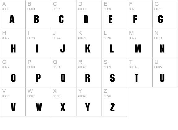 7 Bold Block Font Images