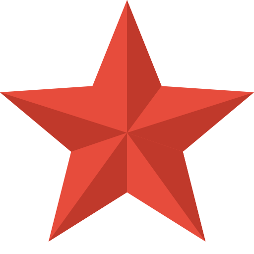 16 Star Icon PNG Flat Images
